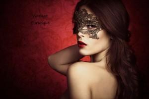 masked vintage burlesque